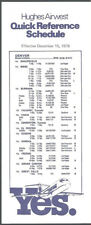 Hughes Airwest Airlines Denver timetable 12/15/78 [8022] Buy 4+ save 50%