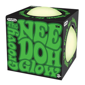 Glow in the Dark Nee Doh Stress Ball Squeeze Schylling NEEDOH GND