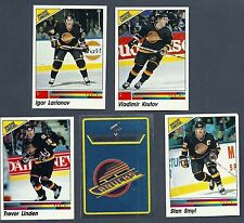 1990-91 Panini NHL Vancouver Canucks Team Set, Linden, McLean, Larianov....(17)