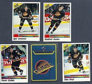1990-91 Panini NHL Vancouver Canucks Team Set, Linden, McLean, Larianov....(17)