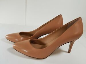INC International Concepts Zitah Pointed Toe Pump Size 9.5M Dark Almond Leather