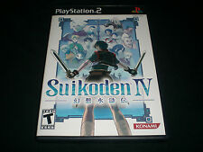 """Suikoden IV (Sony PlayStation 2) Complete """"Great Condition"""" PS2"""