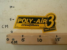 STICKER,DECAL POLY-AIR 3 TRIPLET SYSTEM CROSSFILTERS HOLLAND LARGE 16 CM A