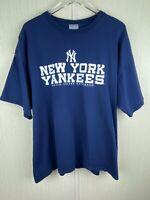 Mens 2XL NY New York Yankees T Tee Shirt Genuine Major League Baseball Blue