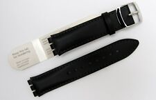 HIRSCH DIEGO 64002050-2 black genuine leather strap for SWATCH 17mm. (32)