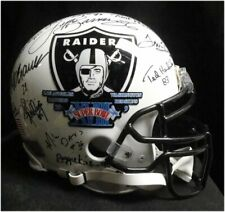 Team Signed Auto Authentic Full Size Helmet Oakland Raiders Super Bowl XVIII JSA