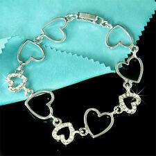 Love HEART made with Swarovski Crystal Valentine's Day Wife Girlfriend Bracelet