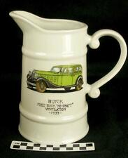Vintage Retro First Buick No Draft Ventilation 1933 Advertising Theme Pitcher HH
