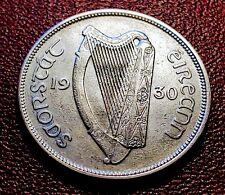 AU Nice & Scarce,  1930 Ireland Half CROWN 2s6d 1/2 Coiron with Holder Very RARE