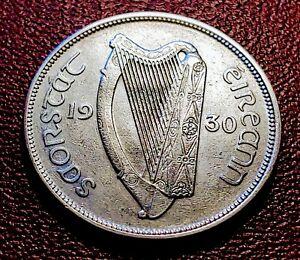 RARE AU Nice & Scarce,  1930 Ireland Half CROWN 2s6d 1/2 Coiron with Holder 🎇