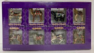 FB Complete Set of 8 Costco Carousel Christmas Tree Ornament Rabbit, Bear, Etc.