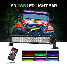 "LED Light Bar Auxbeam V-Series Curved 22"" 120W RGB Strobe Controlled 5D Lens NEW"