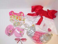 Build a Bear clothes lot swimsuit flip flops cinderella shoes glasses red dress