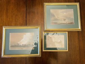 Two 19thC Nautical Watercolours With Historical Provenance
