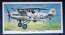 HAWKER HIND    RAF Bomber    Vintage Colour Card