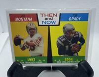 2005 Topps Heritage Then and Now TOM BRADY & JOE MONTANA Card No. TN2