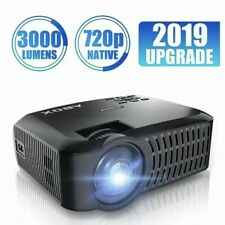 ABOX A2 HD LED Home Theater Projector 720p Native, 1080p Supported