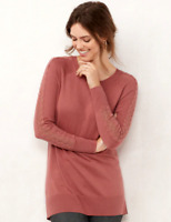 New LC Lauren Conrad Lace Sleeve Tunic Top Sweater Mauve Pink Women's 2XL  $50
