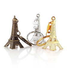 12pcs/lot Cute Adornment 3D Eiffel Tower French Souvenir Paris Keychain Novelty