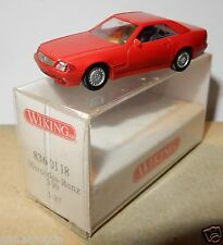 RARE MICRO WIKING HO 1/87 MERCEDES BENZ 500 SL ROUGE in box