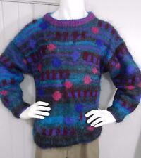 Vintage Gennie de Lange Mohair Sweater Abstract Unique Rare  New Zealand Read