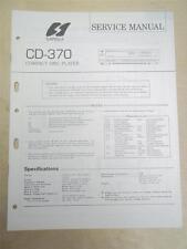 Sansui Service Manual~CD-370 Compact Disc Player~Original~Repair