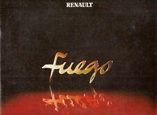 Renault Fuego 1981-82 UK Market Sales Brochure GTX TX Automatic GTS TS TL