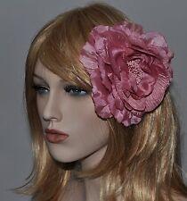 PIVOINE ROSE VIEILLI FLEUR BROCHE ÉPINGLE Fascinator Parure pour cheveux