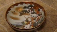 ANTIQUE 19C JAPANESE KUTANI BOWL WITH THE SCHOLAR & PRIEST AT THE EDGE OF A LAKE