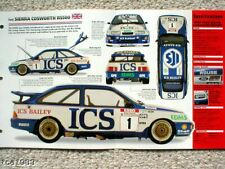 FORD SIERRA COSWORTH RS / RS500 SPEC FOGLIO/BROCHURE: 1987