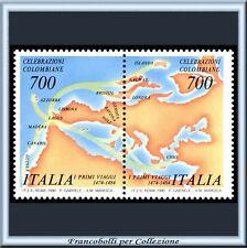 1990 Italia Repubblica Manifestazioni Colombo Coppia **