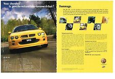 PUBLICITE ADVERTISING  2002  MG   ZR 160  (2 pages)