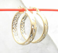 """Earrings 14K Yellow Gold Clad Silver 1.25"""" Inside Out Diamond Star Cut Round"""