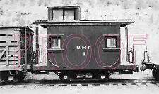 Uintah Railway (URY) Caboose 1 at Atchee, CO in 1936 - 8x10 Photo