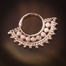 Afghan Rose Gold Plated Septum Ring For Pierced Nose - 1mm (18g) (Code 23)