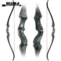 "60"" Takedown Recurve Bow 30-60lbs Archery RH Longbow Bamboo Core Limbs Hunting"
