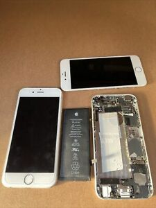 2 iPhone 6 Model A1549 Silver Used  For Parts Only