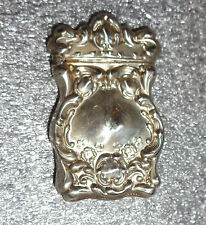 ornate old sterling silver match safe