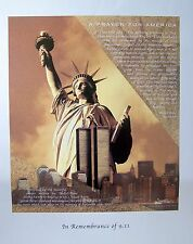 """In Remembrance of 9.11 (A Prayer for America by Gloria Abrar (30"""" x 24"""")"""