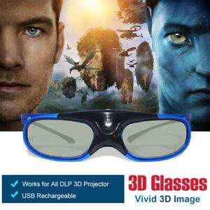3D Brille für Optoma HD24X BenQ DLP-Link Beamer Active Shutter Wiederaufladbare