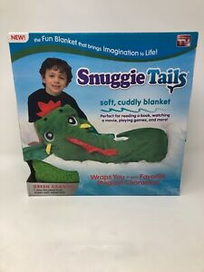 Snuggie Tails Green Dragon Soft Cuddly Blanket As Seen on TV NEW Unopened