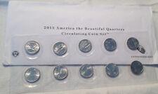 2013 P & D ATB 10-pc. Uncirculated Quarters Set