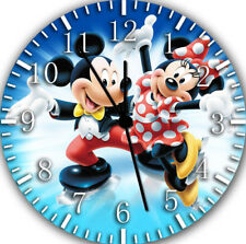Disney Mickey Minnie Mouse Wall Clock Nice For Gift Home Office Wall Decor F32