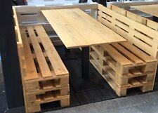 Panche in legno 120x50 h 45 con Pallet Bancali EUR  EPAL NUOVO e schienale