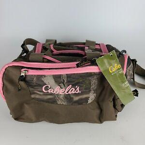New CABELA'S Catch-All Gear Bag Pink Camo Hunting Fishing Range Duffle Zip