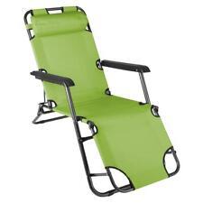 Sonnenliege Klappbar Relaxliege Liegestuhl grün Klappliege Gartenstuhl Stahl