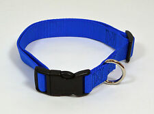 "NEW 1"" Wide Nylon Dog Collar Blue Size Large 16""-25"""