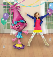 "TROLLS POPPY AirWalker 58"" Big Jumbo Foil Balloon - Kids Birthday Party Supplies"
