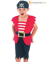 Boys Toddler Pirate Costume Childs Buccaneer Captain Fancy Dress Book Day Outfit