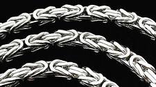 925 echt Sterlingsilber MASSIV vierkant 5,8mm Königskette 55cm Silber Hals kette